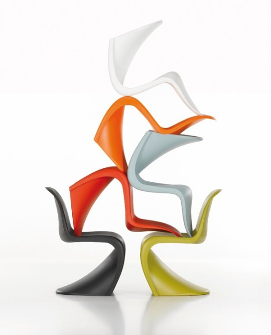 10 artistas interpretan la panton chair en su 50. Black Bedroom Furniture Sets. Home Design Ideas