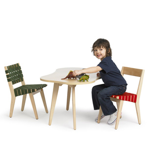 Knoll Kids Mesa Amoeba silla Side Chair Jens Risom