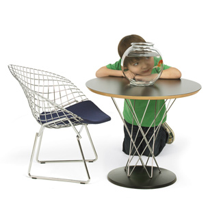 Knoll Kids mesa Cyclone silla Diamond Bertoia