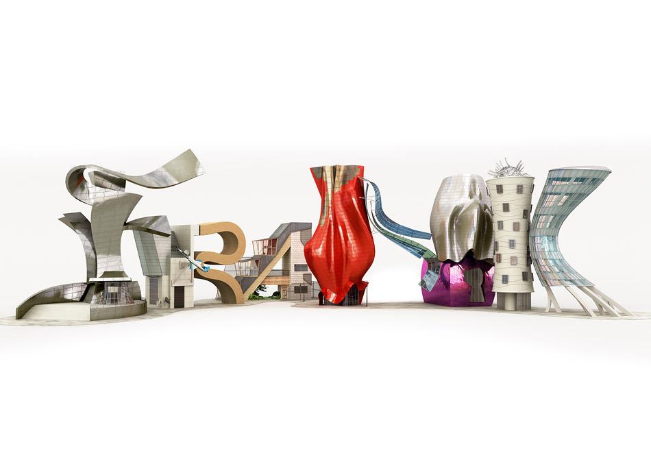 Tipografías 3D Cris Labrooy frank gehry 1class=