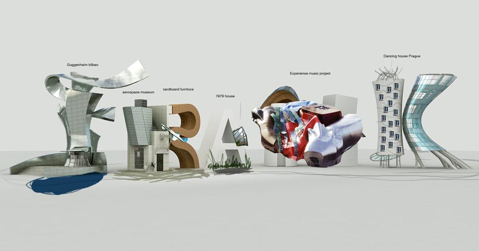 Tipografías 3D Cris Labrooy frank gehry 2class=