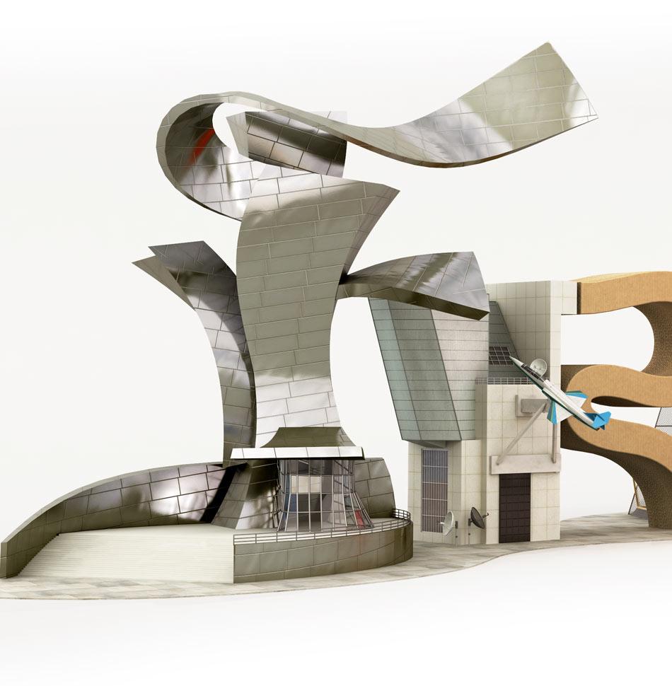 Tipografías 3D Cris Labrooy frank gehry 3class=