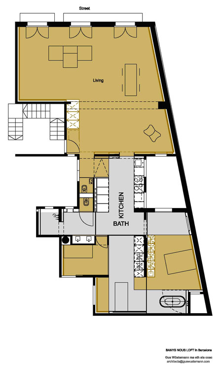 vivienda arquitecto Gus Wüstemann en Barcelona planoclass=