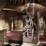 Tienda pop-up de Prada en París escalera