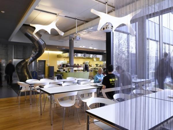 Oficinas de google en zurich de los arquitectos camezind for Comedor para oficina