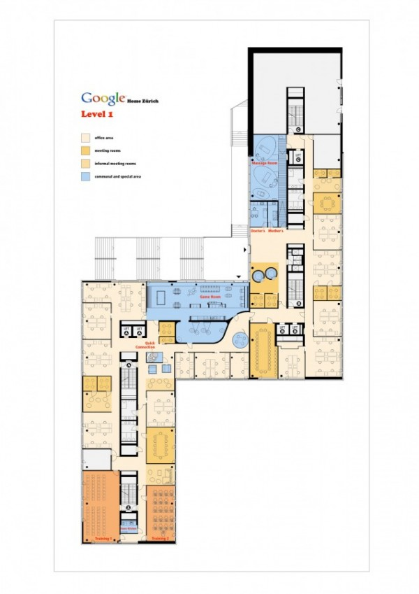 Oficinas de google en zurich de los arquitectos camezind for Oficinas planta arquitectonica