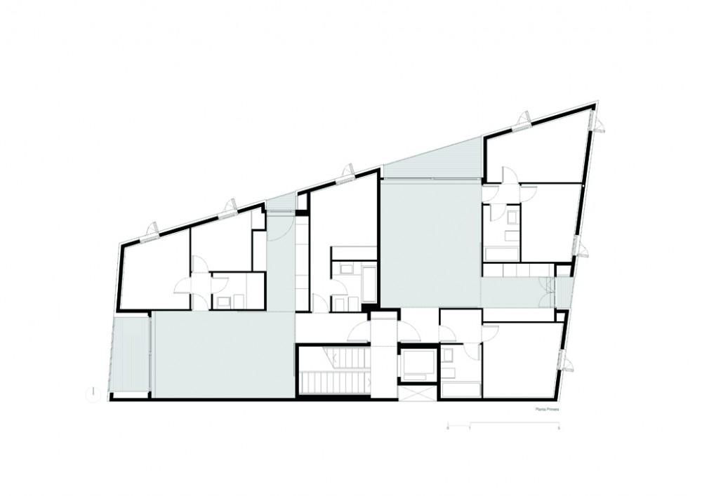 Viviendas 137 h arquitectes granollers planta for Cursos de cocina en granollers