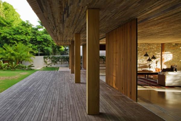 Casa bahia de marcio kogan ecologismo a la brasile a - Porches de casas modernas ...