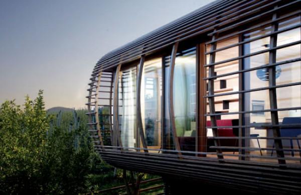 Una vivienda temporal en los Dolomitas
