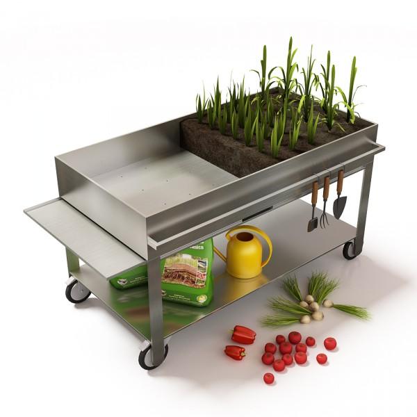 Huerto urbano para cultivar verduras ecol gicas en el for Cultivar vegetales en casa