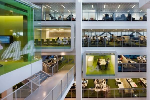 Macquarie Bank en Sídney, otra manera de diseñar las oficinas de un banco