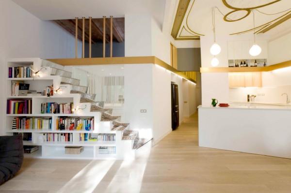 Redise o de un piso del siglo xix en barcelona por miel - Permiso obras piso barcelona ...