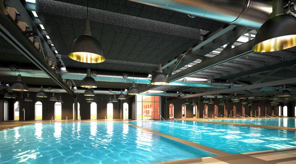 alhondiga interior en bilbao piscina rehabilitacion de philippe starck