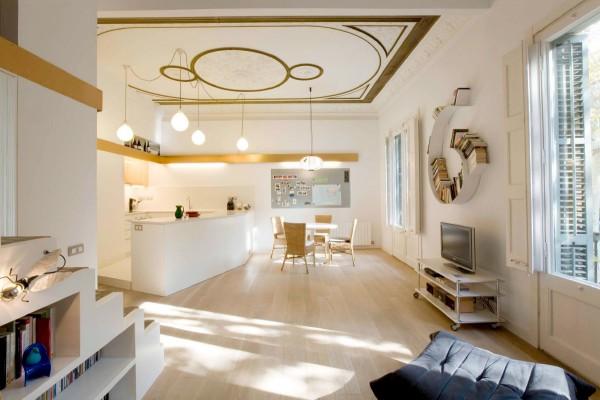 Redise o de un piso del siglo xix en barcelona por miel for Diseno de interiores siglo xix