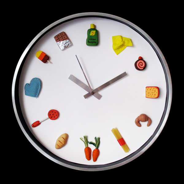 Relojes cocina originales reloj pared manzanas - Relojes pared cocina ...