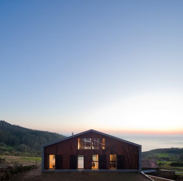 Casa cedeira en galicia de mycc prefabricada sostenible - Casa prefabricadas galicia ...