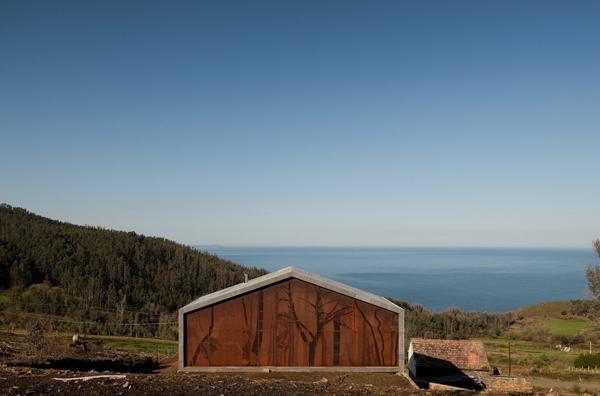 Casa cedeira en galicia de mycc prefabricada sostenible - Casa prefabricada galicia ...