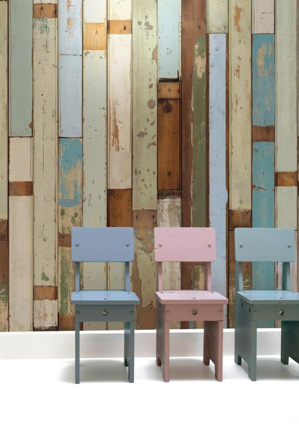 Tablas de madera en versi n papel pintado el ltimo for Papel pared madera