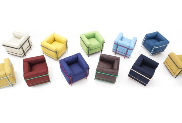 sillón le corbusier LC2 colores arquitectura y diseño