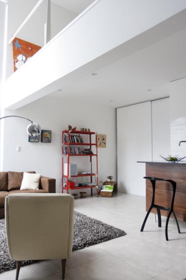 El loft de la cocina cubo en lima un apartamento inundado - Luz para cocinas ...
