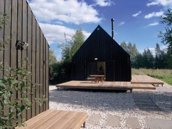 cabana rusa tradicional rusa Dacha VolgaHouse en Rusia exterior diariodesign