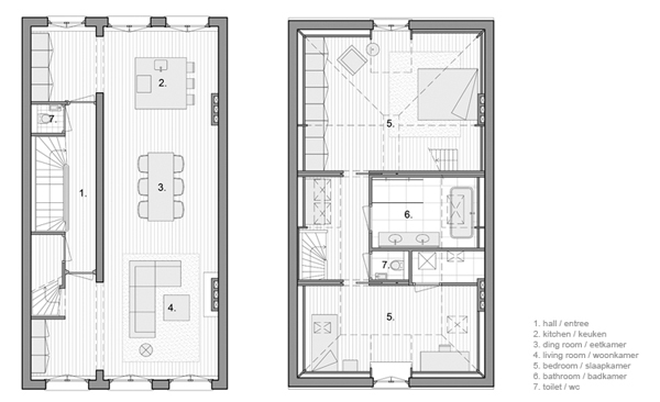 Un d plex di fano en torno a una cocina obra de hofman dujardin - Apartamentos en amsterdam ...