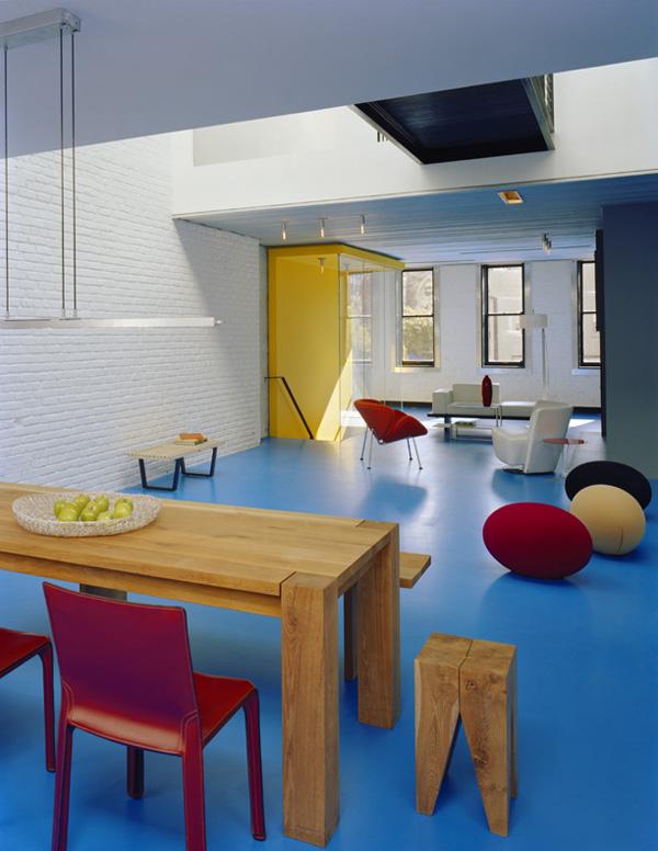 town house un loft de tres plantas renovado con colores