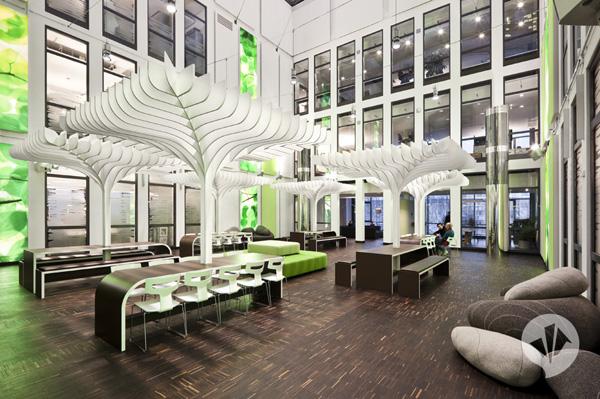 trabajar con estilo redise o de las oficinas de la mtv en berl n por dan pearlmann. Black Bedroom Furniture Sets. Home Design Ideas