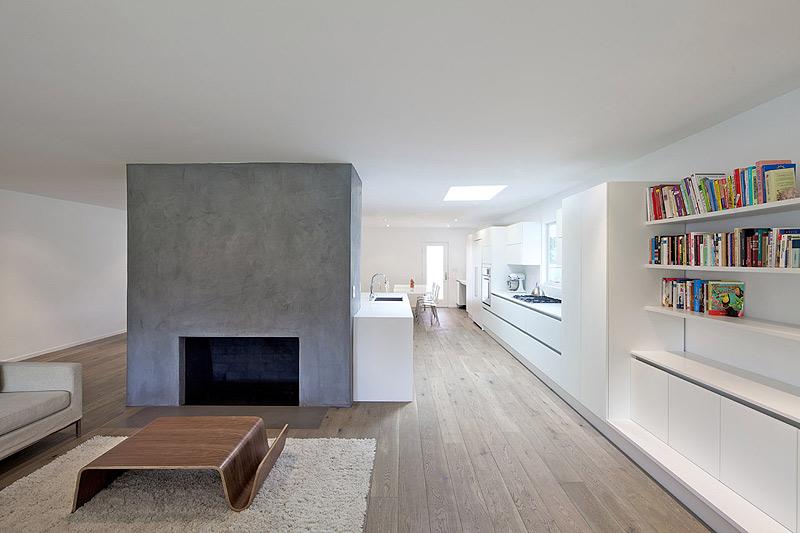 Una vivienda californiana en equilibrio perfecto por for Cocina y salon unidos