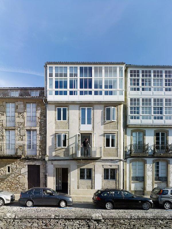 fachada hotel Moure en santiago de compostela diariodesign