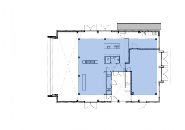 planos reconstruccion casa unifamiliar en una Iglesia de Rotterdam