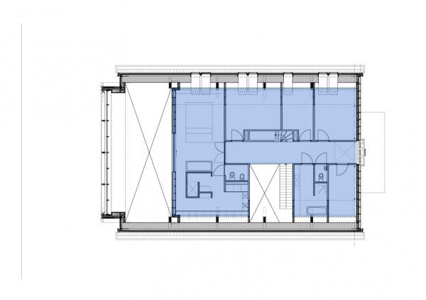 plano reconstruccion casa unifamiliar en una Iglesia de Rotterdam
