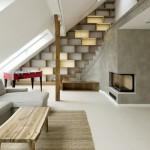2 Rounded Loft en Praga salón y escalera