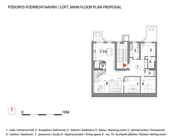Rounded Loft en Praga de A1 architects diariodesign