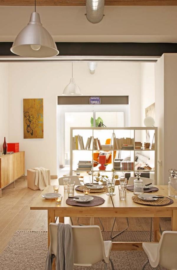Un loft de espacios di fanos dise o de crea projects o for Cocinas abiertas al pasillo