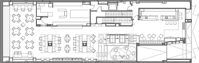 Hotel the mirror de gca arquitectos asociados reflejos for Plano de cocina hotel 5 estrellas
