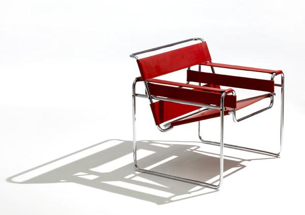 silla wassily roja metálica marcel breuer