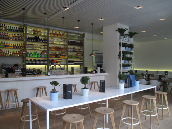 interior Restaurante Lateral Castellana 42 en madrid