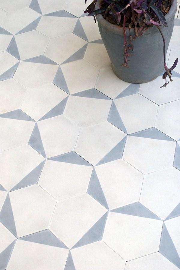 casa es una baldosa hexagonal inspirada en la geometra rabe que se puede instalar en diferentes segn el giro de la baldosa al ser