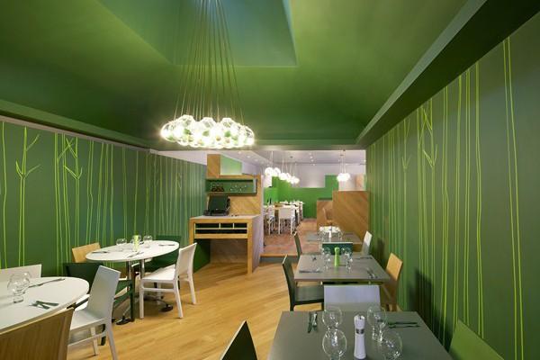 Ask italian hertford un restaurante 39 verde 39 y minimalista for Restaurantes modernos exterior