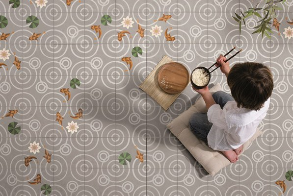 Drops un azulejo que evoca un id lico estanque japon s for Estanque japones