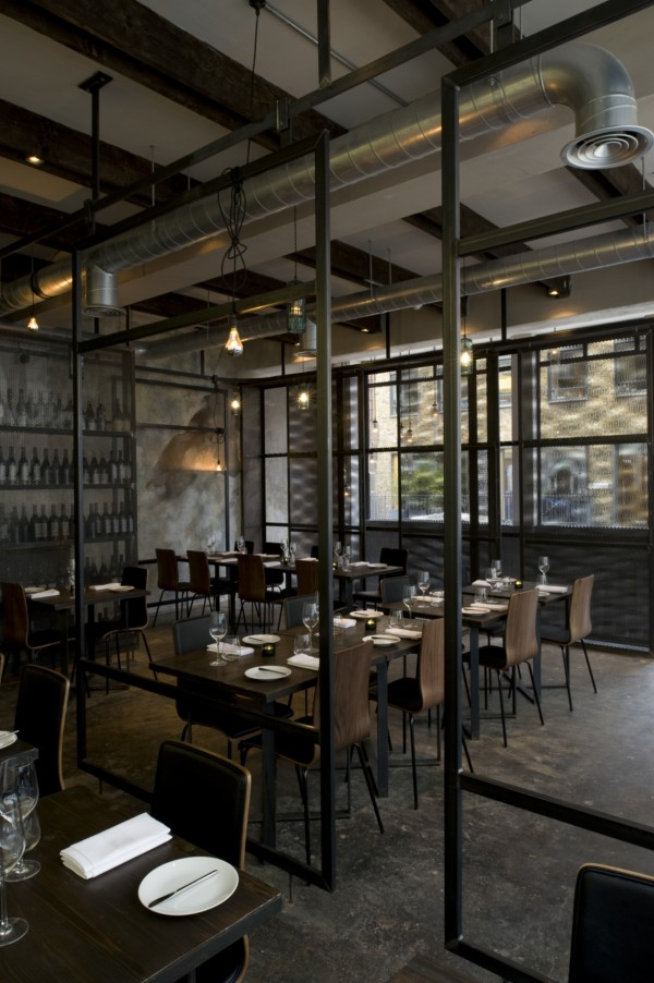 Best Decoration Restaurant London : Materias primas en los platos y las paredes del