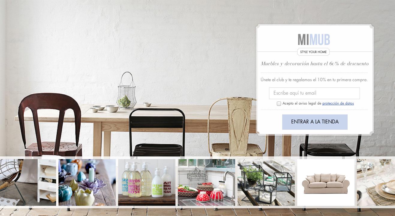Mimub una nueva tienda on line de decoraci n para el for Proveedores decoracion hogar