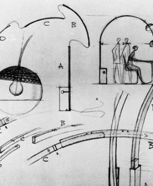 A.Castiglioni_original drawing for Arco lamp (Copiar)