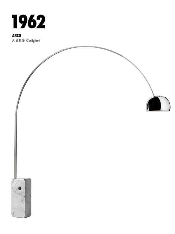 arco led flos celebra el 50 aniversario de uno de sus emblemas. Black Bedroom Furniture Sets. Home Design Ideas