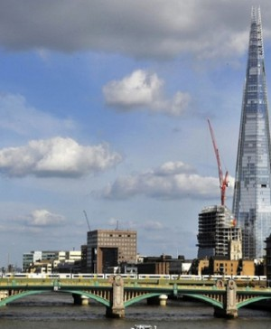 Vista general del edificio The Shard en Londres. Efe