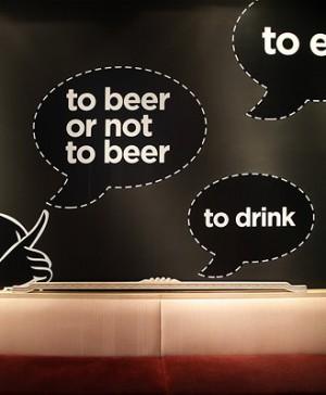 1 think beer