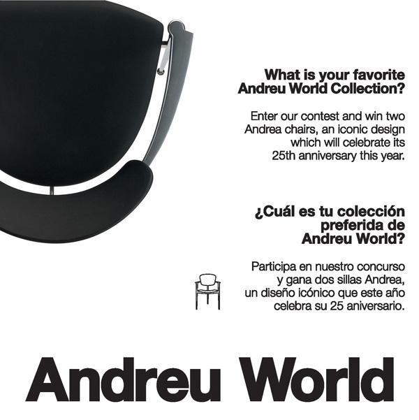 vota tu coleccin preferida de andreu world y gana dos sillas andrea