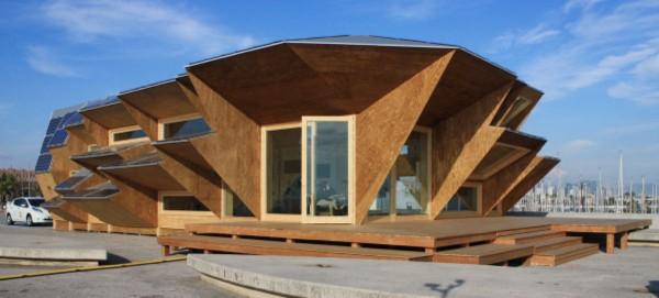 El pabell n endesa en barcelona un prototipo de casa - Casas de madera laminada ...