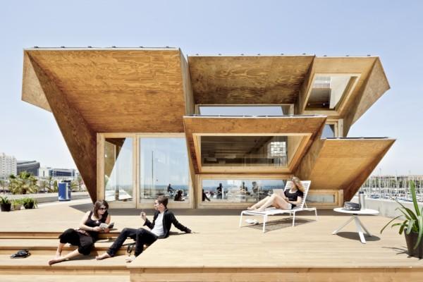 El pabell n endesa en barcelona un prototipo de casa solar con fachada inteligente - Oficina fecsa endesa barcelona ...